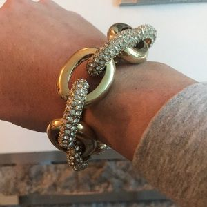 Ann Taylor gold and pave bracelet